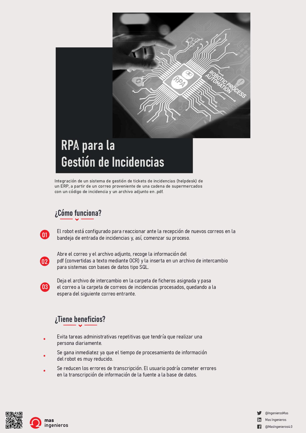 RPA para la gestión de incidencias